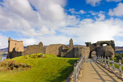 Urquhart Castle. On Loch Ness shore in Scotland Stock Photography