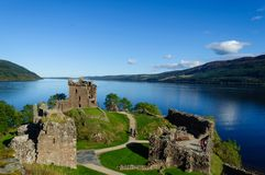 Free Urquhart Castle In The Summer With A Beautiful Blue Sky Stock Photography - 133048282