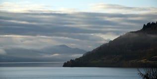 Urquhart Castle loch Ness. A misty morning looking at Urquhart Castle loch Ness Royalty Free Stock Image
