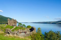 Urquhart Castle by Loch Ness stock image