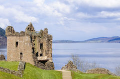 Urquhart Castle on Loch Ness in Scotland Stock Images