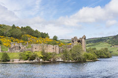 Urquhart Castle on Loch Ness in Scotland. Stock Photography