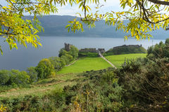 Urquhart castle, by Loch Ness Stock Photos
