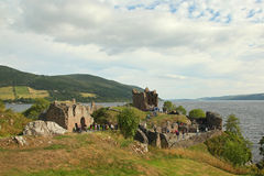 Urquhart Castle beside Loch Ness in Scotland Stock Image
