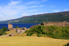 Urquhart Castle and Loch Ness, Scotland Royalty Free Stock Photos