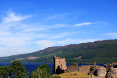 Urquhart Castle and Loch Ness, Scotland Royalty Free Stock Photography