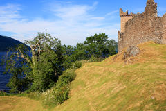 Urquhart Castle and Loch Ness, Scotland Royalty Free Stock Image