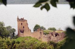 Urquhart Castle next to Loch Ness Stock Images