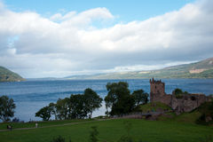 Urquhart Castle o. N Loch Ness in Scotland Royalty Free Stock Photography