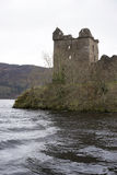 Urquhart Castle ruin on Loch Ness Stock Images