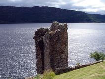 Urquhart Castle ruins stock images