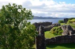 Urquhart Castle Ruins Overlooking Loch Ness in Scotland Stock Image