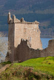 Urquhart Castle Scotland. Ruins of Urquhart Castle at Loch Ness Inverness Highlands Scotland UK Royalty Free Stock Photos