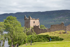Urquhart Castle on the shores of Loch Ness Royalty Free Stock Image