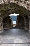 Inside Urquhart Castle. Loch Ness, Inverness, Scotland royalty free stock images