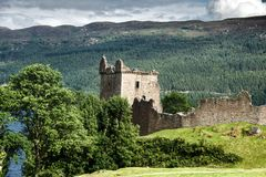 Urquhart Castle. Loch Ness, Inverness, Scotland royalty free stock images