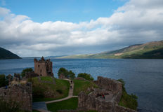 Urquhart Castle. With the view on Loch Ness in Scotland Royalty Free Stock Images