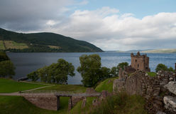 Urquhart Castle. With the view on Loch Ness in Scotland Royalty Free Stock Photos