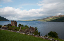 Urquhart Castle. With the view on Loch Ness in Scotland Royalty Free Stock Photo