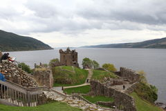 Urquhart-Schloss auf Loch Ness Stockbilder