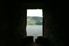 Urquhart Schloss, Loch Ness, Schottland Lizenzfreies Stockfoto