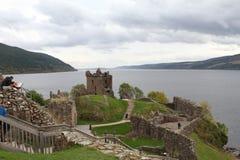 Urquhart slott på Loch Ness Arkivbilder