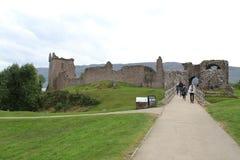 Urquhart slott på Loch Ness Arkivbild