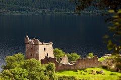 Urquhart slott, Skottland, UK Fotografering för Bildbyråer