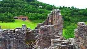 Urquhartkasteel, Schotland stock footage