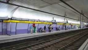 Urquinaona-U-Bahnstation Lizenzfreie Stockfotos