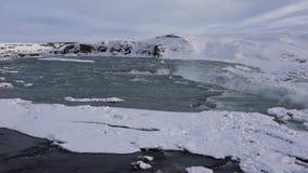 Urridafoss, IJsland, Europa stock video
