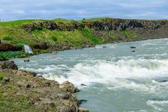 Urridafoss waterfall, south Iceland Royalty Free Stock Photos