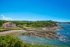 ` Urrugne, Atlantik, Baskenland, Frankreich Corniche d Lizenzfreie Stockbilder