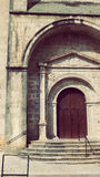 Urrugne Church Door at Village South France in Europe. Architecture at Urrugne Village Basque Country France Europe Holidays Landmark Royalty Free Stock Images