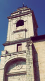 Urrugne Church Tower snd Village South France Europe. Architecture at Urrugne Village Basque Country France Europe Holidays Landmark Stock Photo