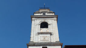 Urrugne Sain文森特教会村庄南法国在欧洲 库存图片
