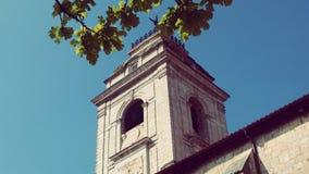 Urrugne Sain文森特教会村庄南法国在欧洲 免版税图库摄影