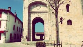 Urrugne Sain Vincent Church Village South France in Europa Stock Afbeeldingen