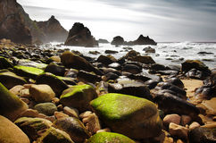 Ursa Beach. Rocky seascape of Ursa Beach in Portugal Stock Images