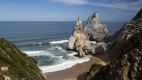 Ursa Beach in Sintra Stock Images