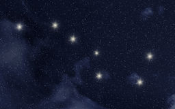 Ursa Major constellation royalty free stock photos