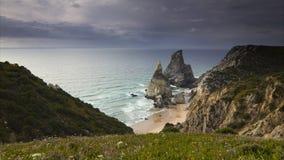 Ursa - najwięcej zachodniej plaży w Europa Zdjęcie Royalty Free