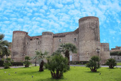 Ursino Castle in Catania royalty free stock photography