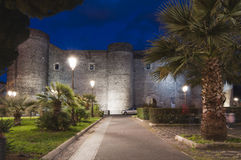 Ursino castle in Catania Sicily Italy Stock Photography