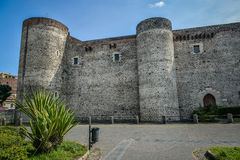 Ursino castle in catania sicily Royalty Free Stock Photo