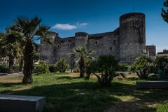 Ursino Castle in Catania, Sicily royalty free stock images