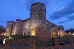 Ursino Schloss in Catania Sizilien Italien stockbilder