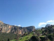 Ursnygg bergsikt i Afrika Royaltyfri Foto