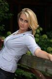 ursnygg blondin Fotografering för Bildbyråer