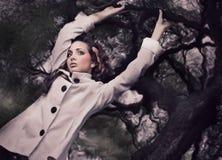 ursnygg brunett fotografering för bildbyråer